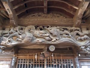 睦沢町八坂神社彫刻