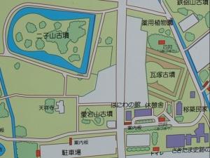 さきたま古墳公園旧案内図