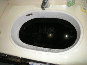 インク吸収パッド洗浄中