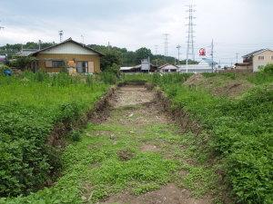 高橋塚古墳西方トレンチ