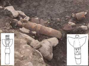K-11号古墳北東部靫形埴輪